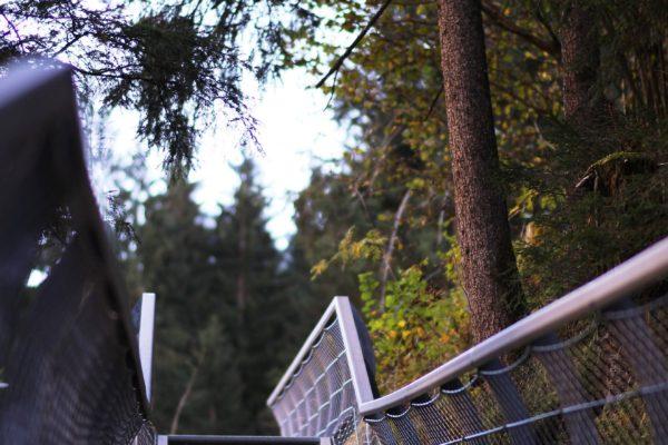 Schluchtenweg-Metallsteg